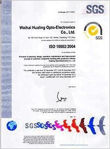 Certifications:ISO10002(Complaints management system)